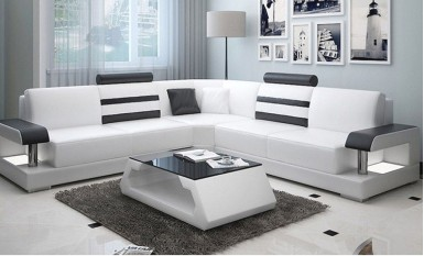 Tessie - L - Leather Sofa Lounge Set